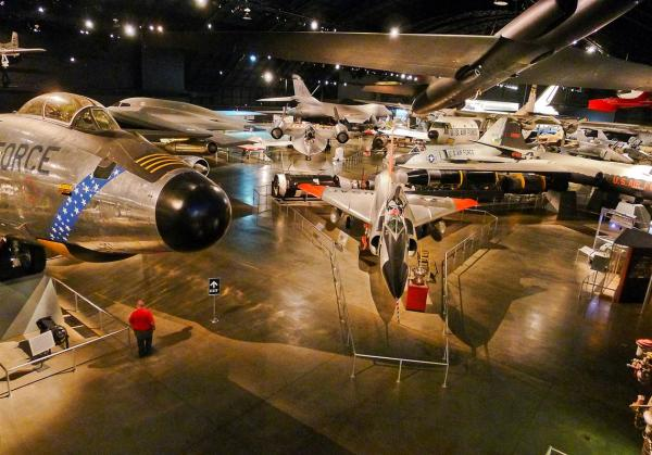 Planes In The Hangar Of The National Museum of the United States Airforce