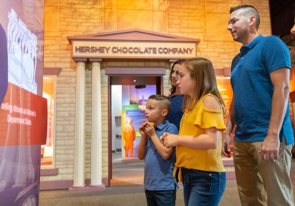 Family at the The Hershey Story Museum