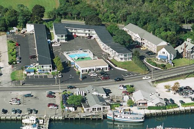 Aerial view of Hyannis Holiday Motel