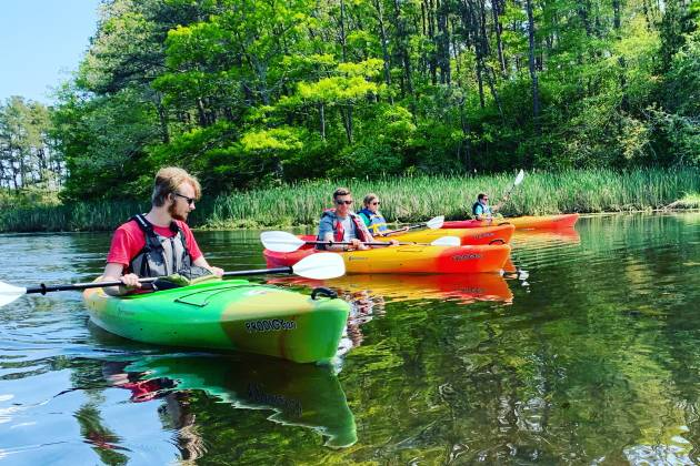 Kayaking the Mashpee River