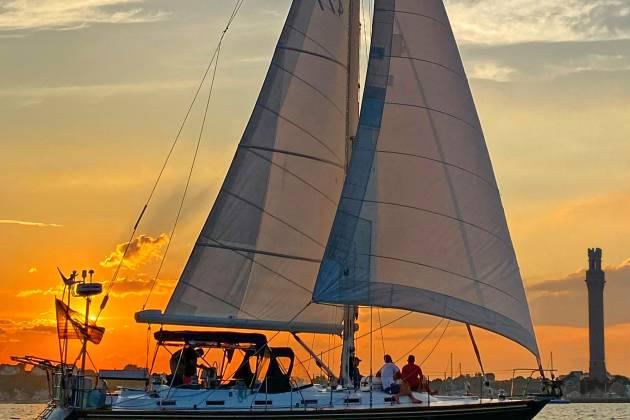 Sunset Sailing Aboard Moment
