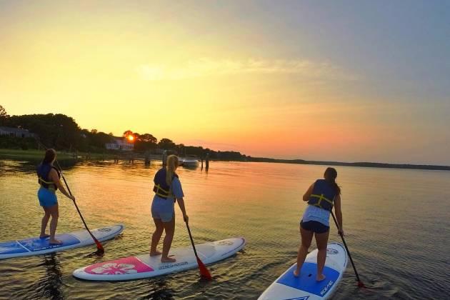 Paddle Boarding Popponesset Bay