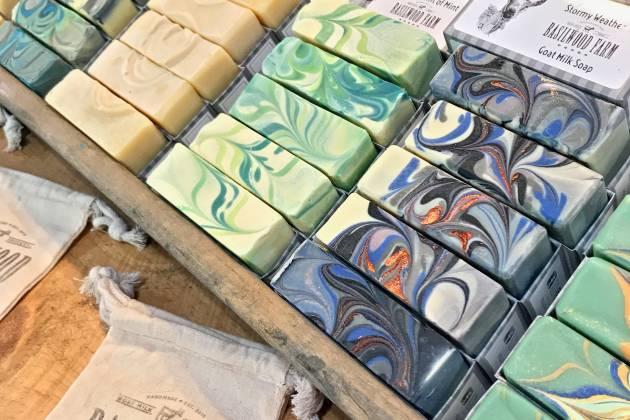 Basilwood Farm soaps display