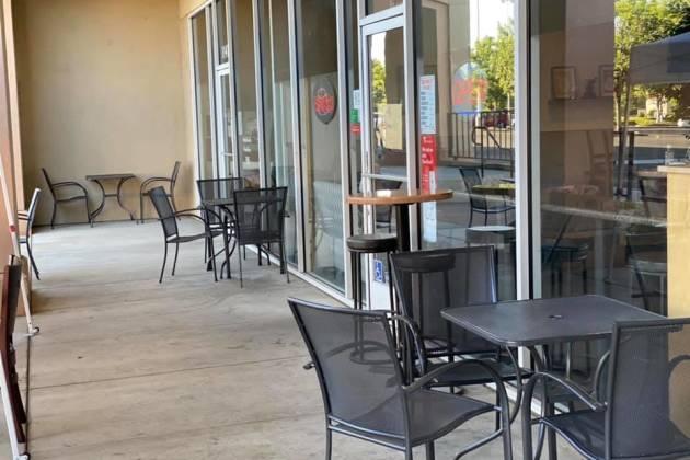 The Mug outside seating