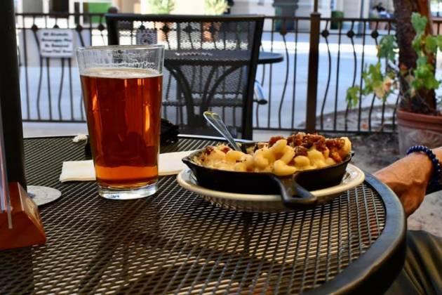 Tioga Sequoia patio and food