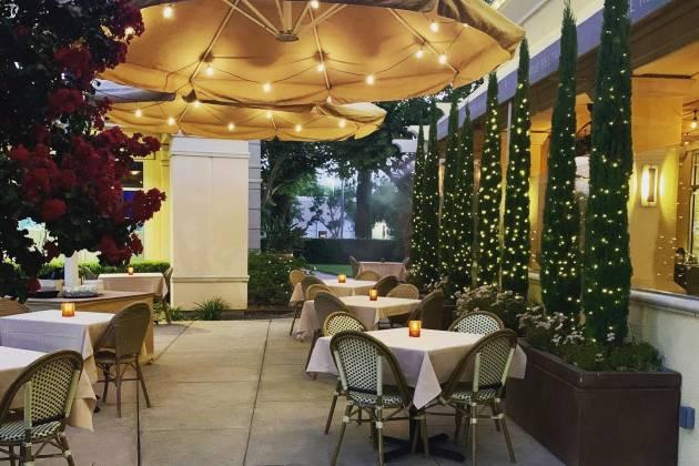 five restaurant patio