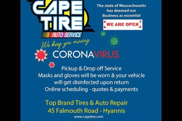 Cape Tire Corona Virus digital promo