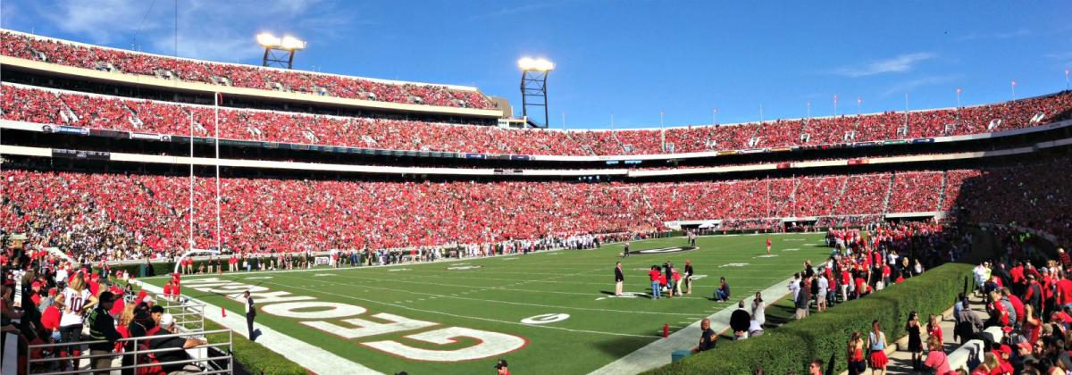 Sanford Stadium field level