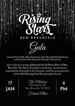 Rising Stars Gala Invitation 2019