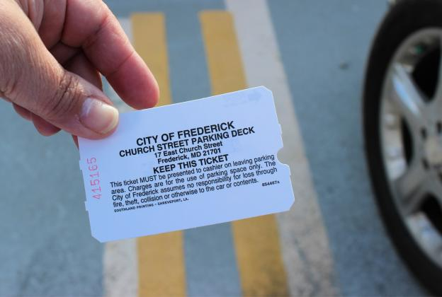 Church Street Parking Ticket Stub