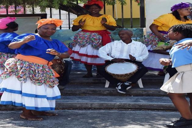 Folk dancers at the Montego Bay Cultural Centre