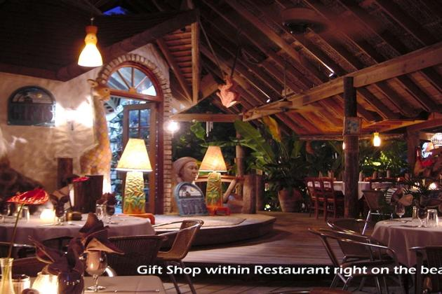 Gift shop within restaurant