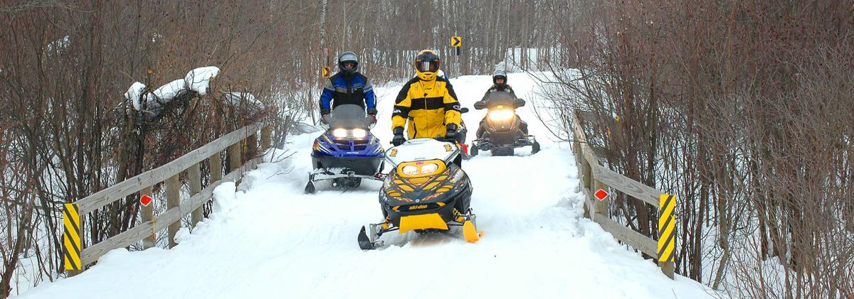 Snowmobiling in Traverse City