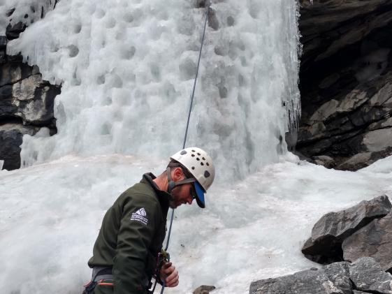 Ice climbing in Clear Creek Canyon