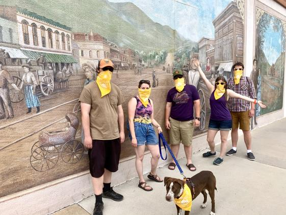Tour Group at Mural