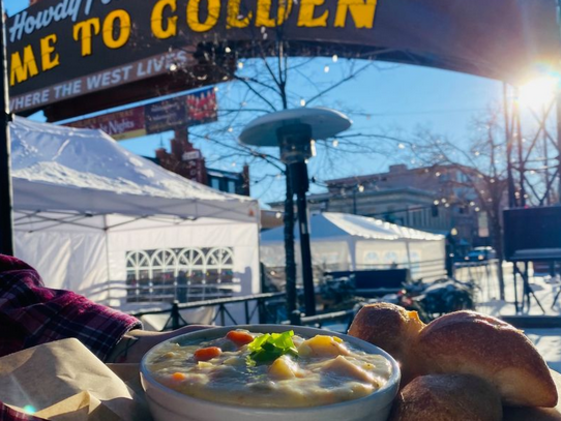 HEARTY SOUP RIGHT UNDER THE ARCH!