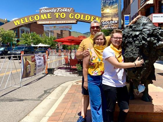 Family on a Tour under the Golden Arch