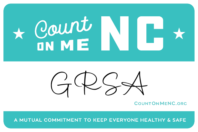 Count on me NC badge GRSA