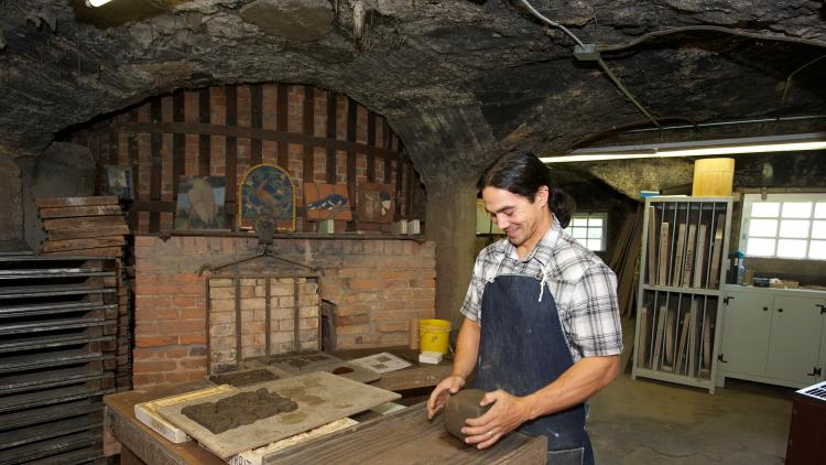 Tile Making at Moravian Pottery & Tile Works