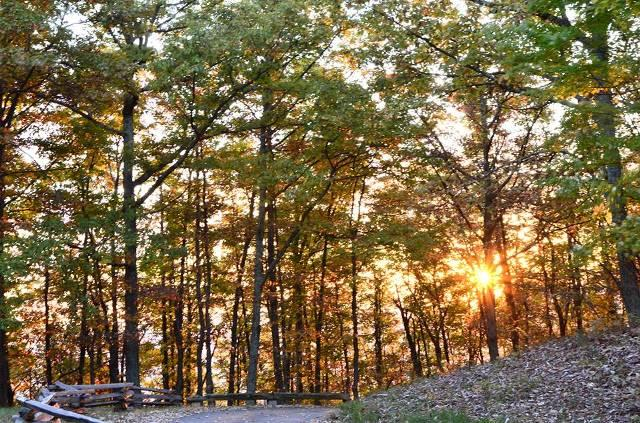Sunrise Roanoke Mountain - Fall Photo