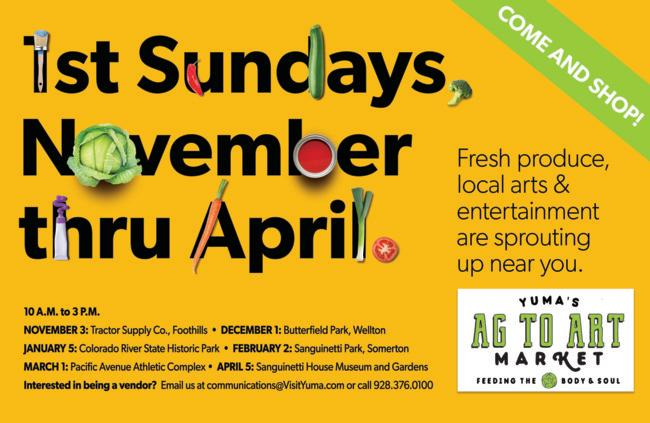 Ag to Art 1st Sundays _Flyer
