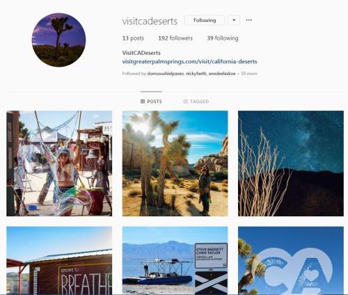 Instagram for Visit CA Deserts