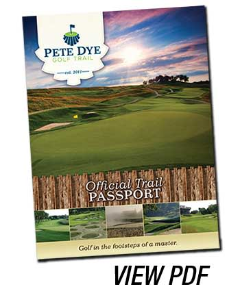 Pete Dye Golf Trail brochure cover