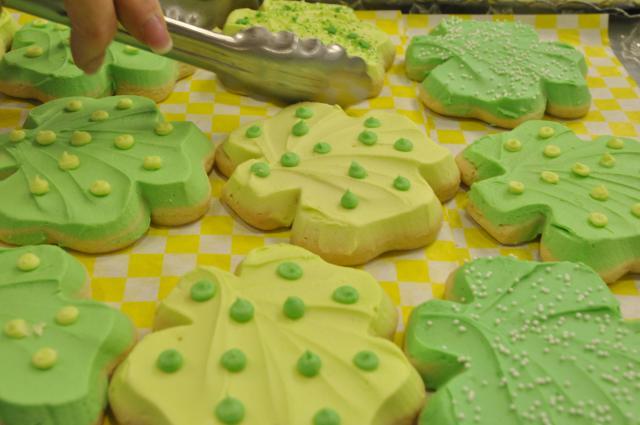Sunny Street Shamrock Cookies