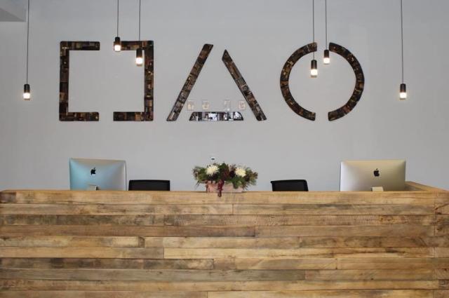 Brick House Blue Front Desk