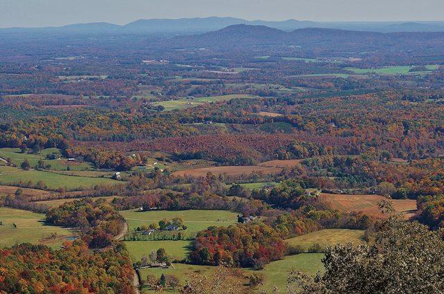 Blue Ridge Mountain Valley - Fall Photo