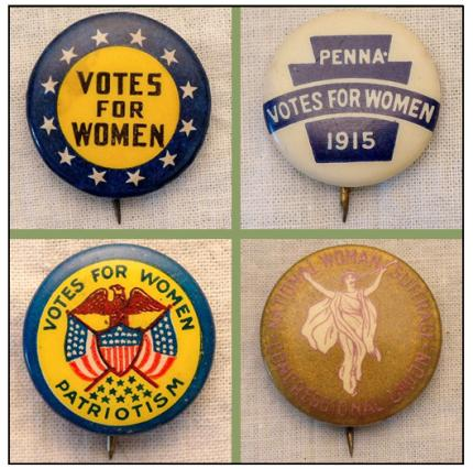 Votes for Women Exhibition - Pins