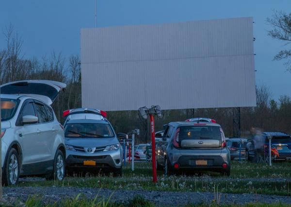 Finger Lakes Drive-In Cars and Screen