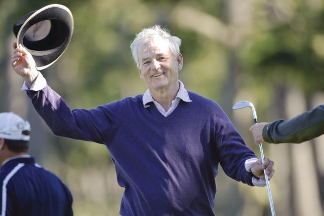 Bill Murray at the AT&T National Pro-AM Pebble Beach