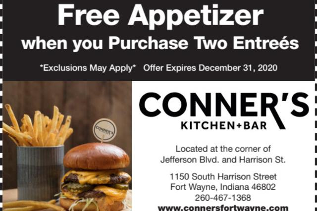 2020 Conner's Coupon-Free Appetizer
