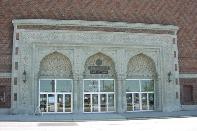 Front Entrance of Goldstine Performing Arts Center
