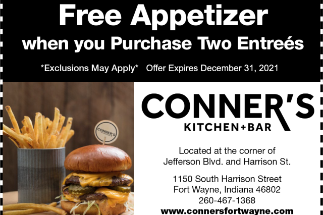 Free Appetizer Coupon ex 12-31-2021