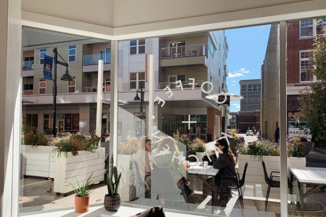 Utopian Coffee Window on the Landing
