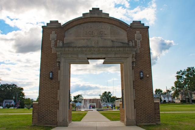 Franklin School Park Door