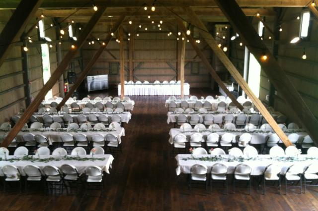 Salomon Farm Park Wedding Setup in the Barn