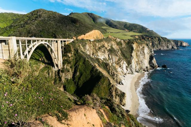 Bixby Bridge & Cliff side View