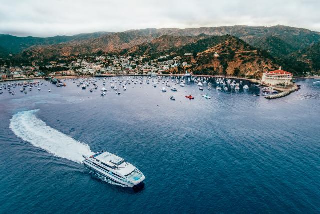 Catalina Express in Avalon Harbor