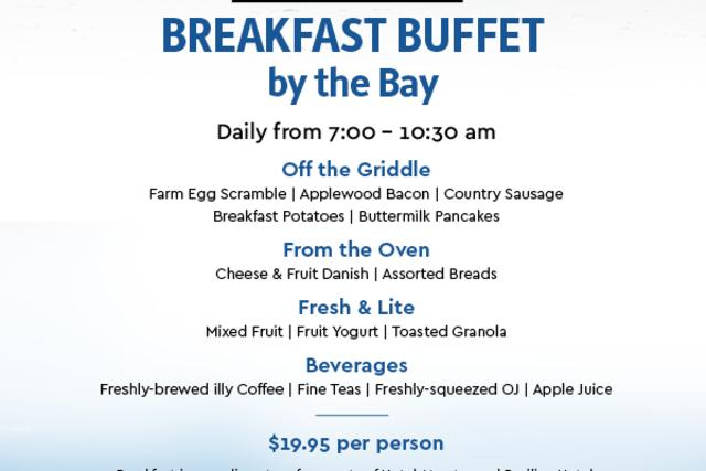 Avalon Grille Breakfast Buffet by the Bay