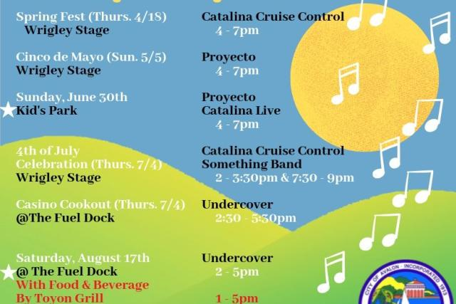 Catalina Concert Series updated 8/2/19