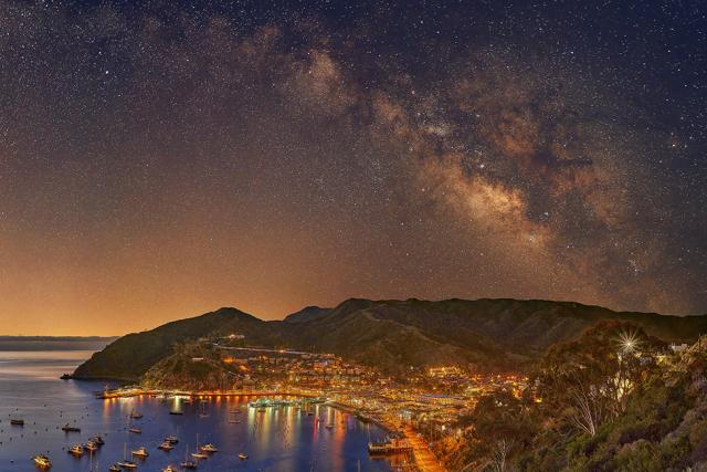 Catalina Landscape Art-Harbor