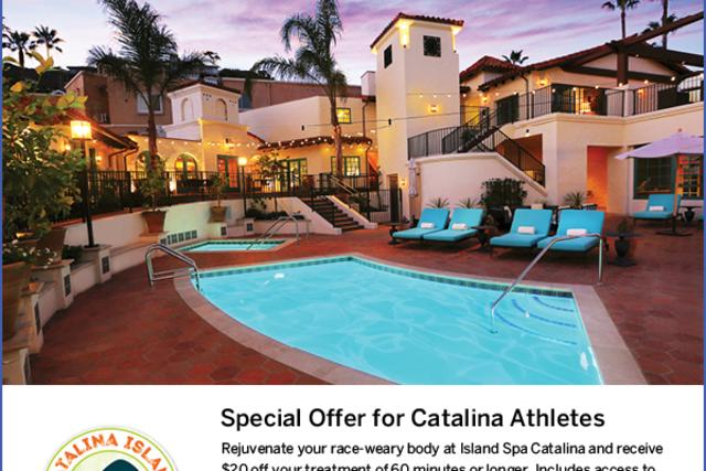 Island Spa Catalina Post Race Offer