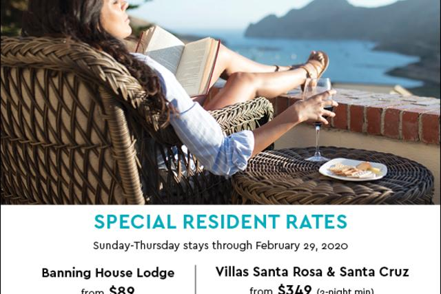 Catalina Residents: Special Rates at Banning House Lodge