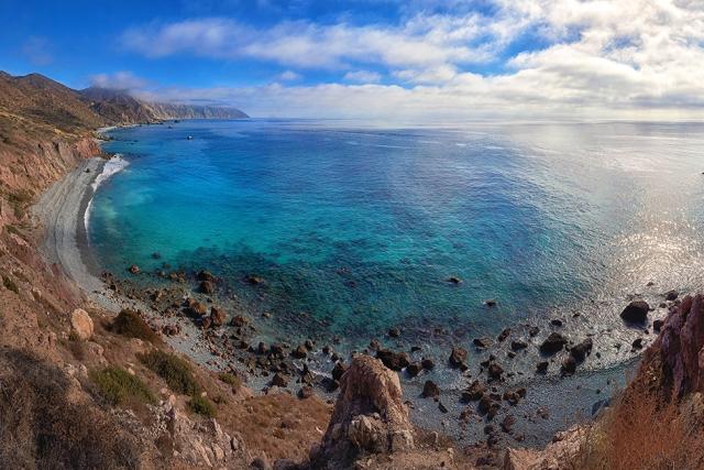 Catalina Landscape Art-coastline