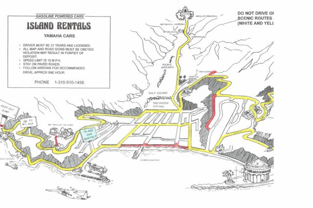 Island Rentals Golf Carts Route Map