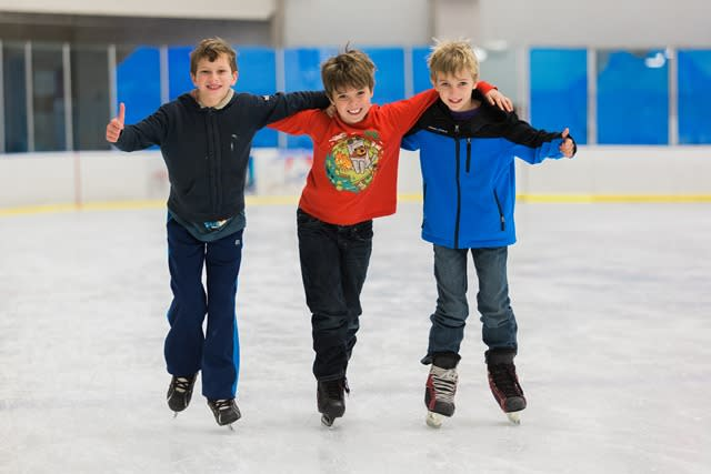 boys on ice at OC Sportsplex
