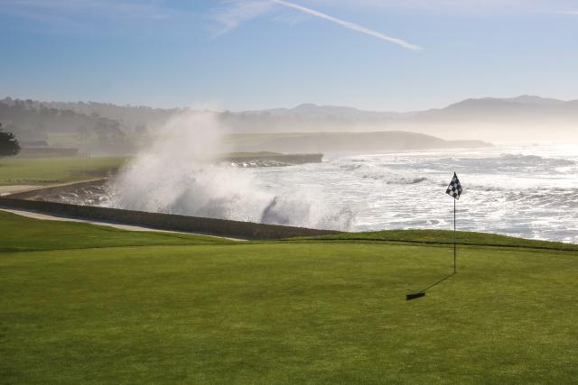 Waves Crashing at Pebble Beach Golf Links